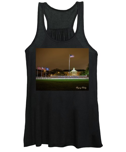 Flag At Night In Wind Women's Tank Top