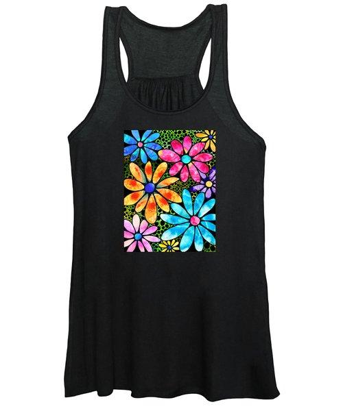 Floral Art - Big Flower Love - Sharon Cummings Women's Tank Top