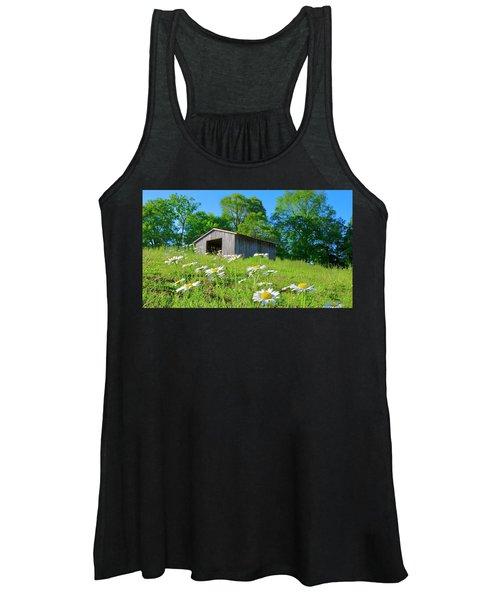 Flowering Hillside Meadow Women's Tank Top