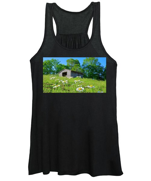 Flowering Hillside Meadow Women's Tank Top