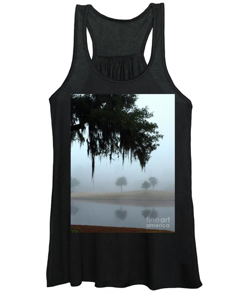 Women's Tank Top featuring the photograph Foggy Morn Reflections by Rick Locke