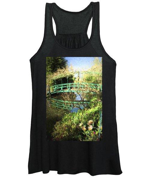 Foot Bridge Reflections In Monet's Garden Women's Tank Top