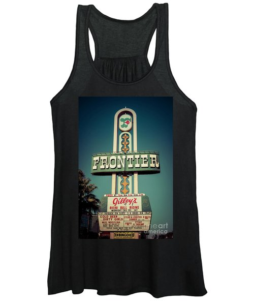 Frontier Hotel Sign, Las Vegas Women's Tank Top