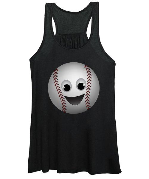 Fun Baseball Character Women's Tank Top