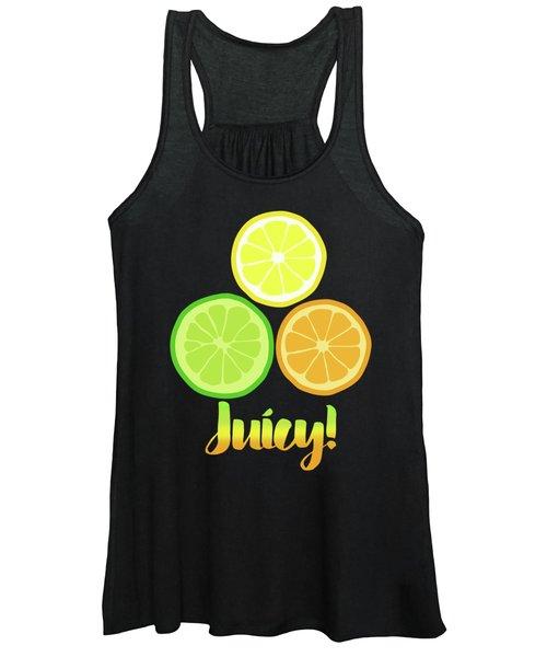 Fun Juicy Orange Lime Lemon Citrus Art Women's Tank Top