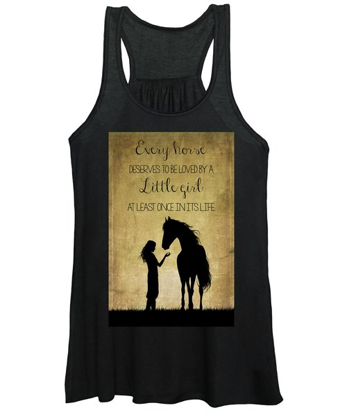 Girl And Horse Silhouette Women's Tank Top