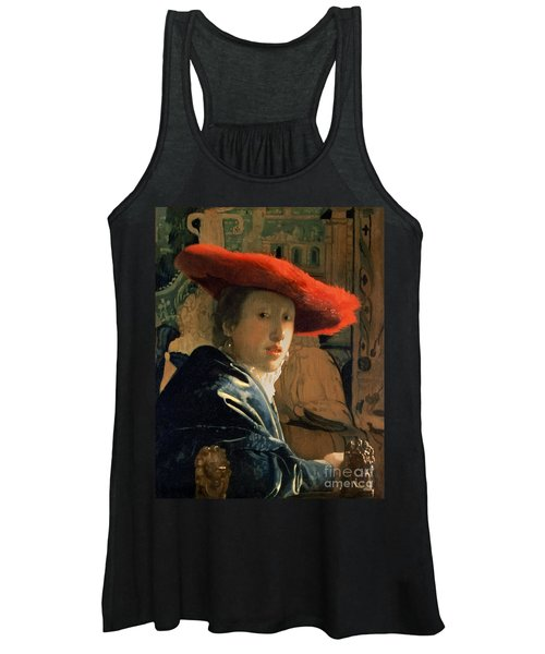 Girl With A Red Hat Women's Tank Top