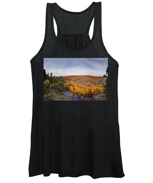 Glorious Autumn Lutsen Mountain Resort North Shore Minnesota Women's Tank Top