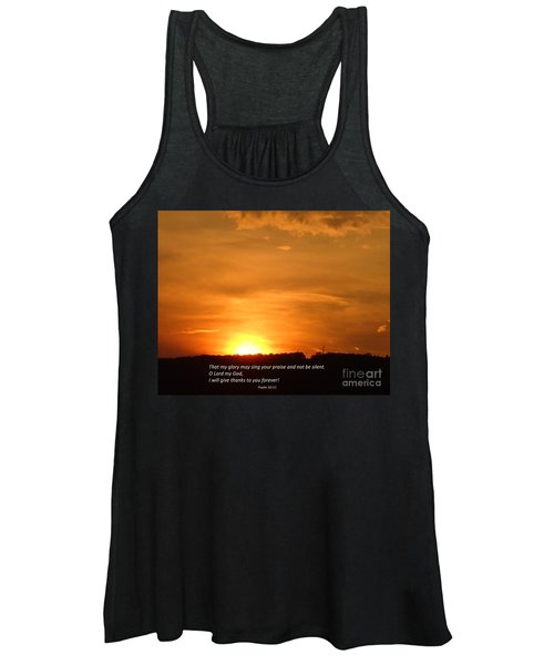 Glory And Thanks  Women's Tank Top