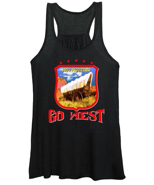 Go West Pioneer - Tshirt Design Women's Tank Top