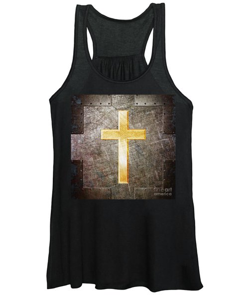 Gold And Silver Women's Tank Top