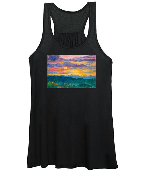 Golden Blue Ridge Sunset Women's Tank Top