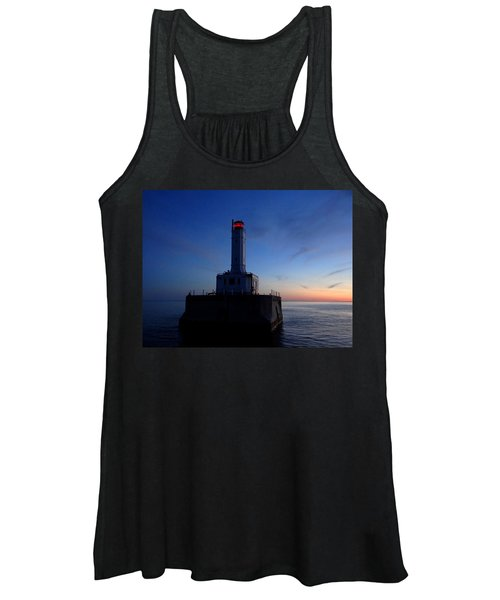 Grays Reef Lighthouse At Dusk Women's Tank Top
