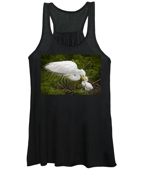 Great Egret And Chick Women's Tank Top