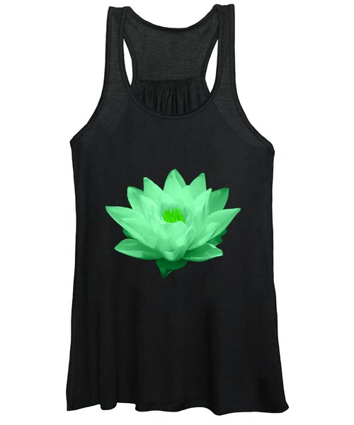 Green Lily Blossom Women's Tank Top