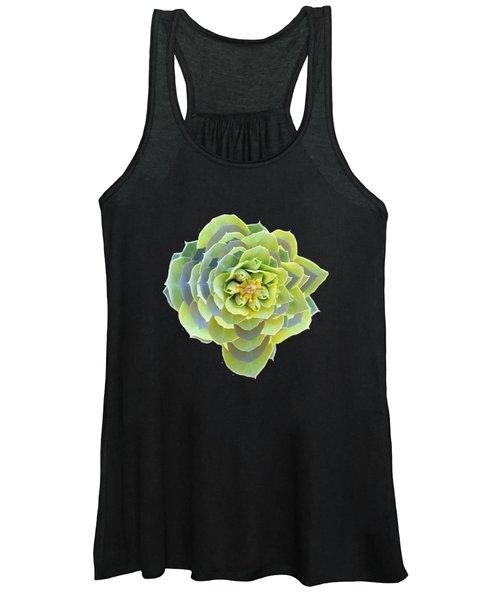 Green Weed Flower Kaliedoscope Women's Tank Top