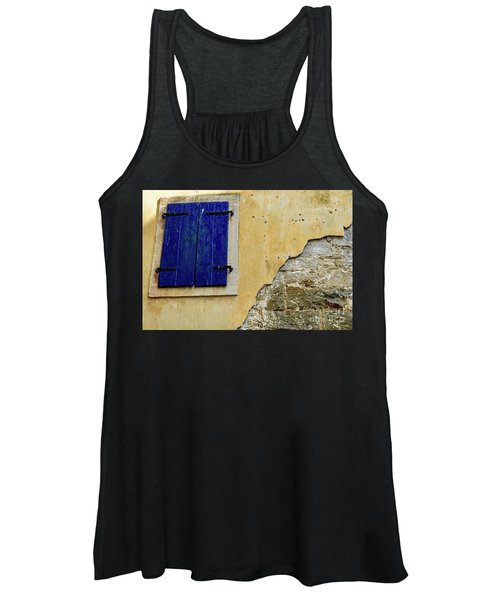 Groznjan Istrian Hill Town Stonework And Blue Shutters  - Istria, Croatia Women's Tank Top