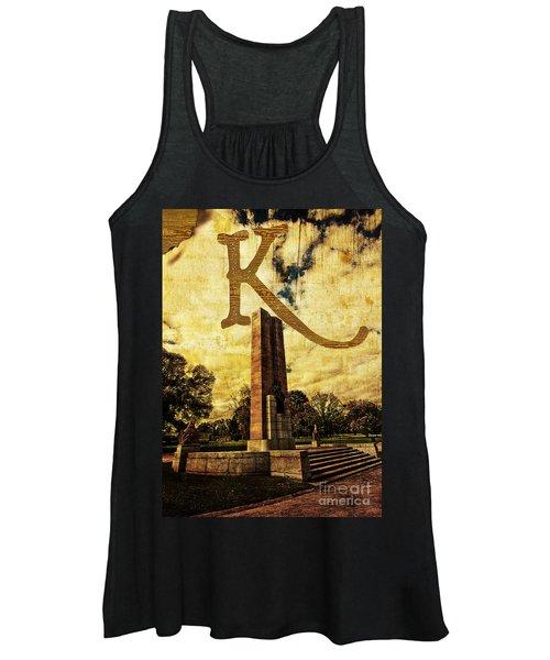 Grungy Melbourne Australia Alphabet Series Letter K Kings Domain Women's Tank Top