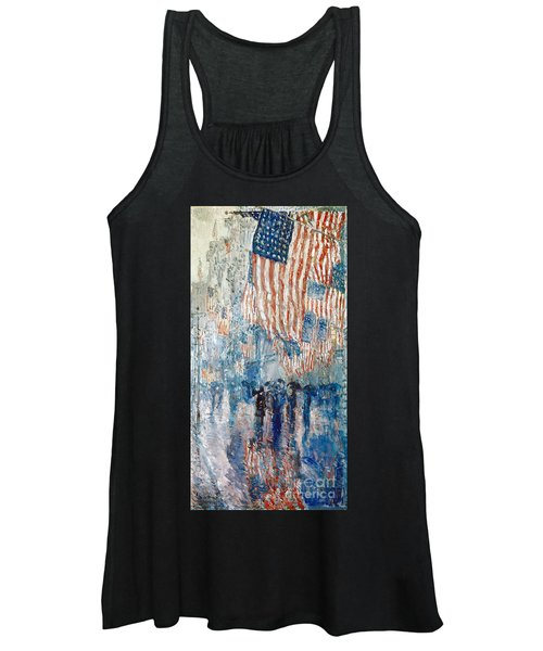 Hassam Avenue In The Rain Women's Tank Top