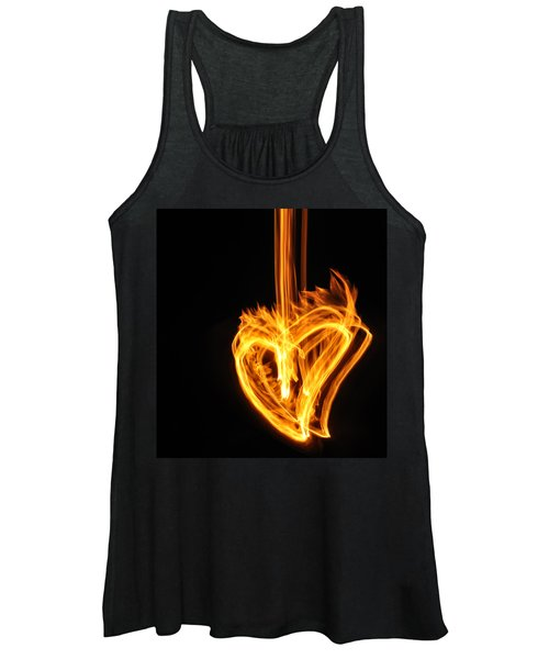 Hearts Aflame -falling In Love Women's Tank Top