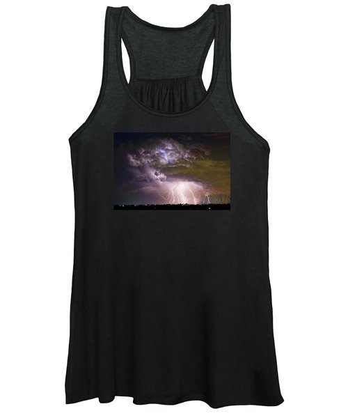 Highway 52 Storm Cell - Two And Half Minutes Lightning Strikes Women's Tank Top