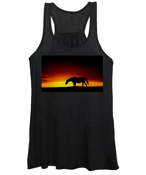 Horse At Sunset Women's Tank Top