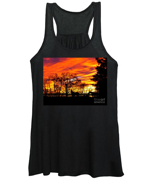 Horses Under A Painted Sky Women's Tank Top