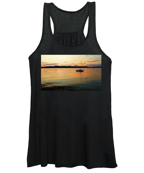 Hudson River From Irvington In Westchester County Women's Tank Top