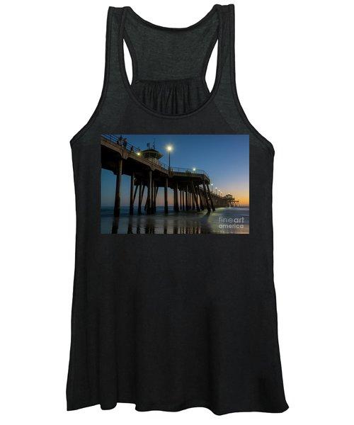 Huntington Beach Pier At Dusk Women's Tank Top