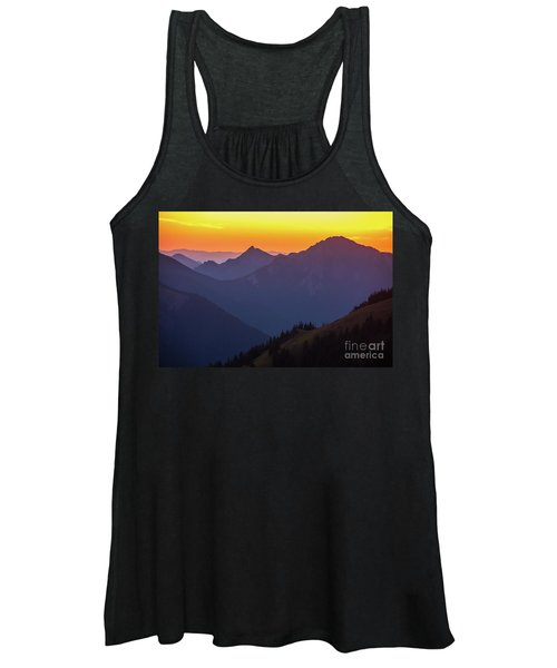 Hurricane Ridge Sunset Layers Women's Tank Top