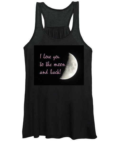 I Love You To The Moon Pink Women's Tank Top