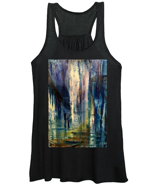 Icy Cavern Abstract Women's Tank Top