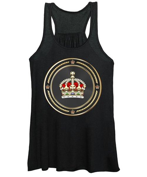 Imperial Tudor Crown Over Blue Velvet Women's Tank Top