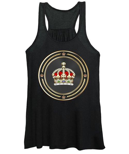 Imperial Tudor Crown Over Red Velvet Women's Tank Top
