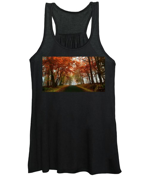 Inner Line Road At Valley Forge Women's Tank Top