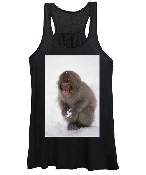 Japanese Macaque Macaca Fuscata Baby Women's Tank Top