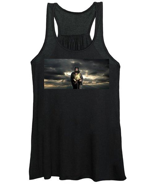 Jesus In The Clouds Women's Tank Top