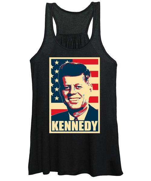 John F Kennedy American Propaganda Poster Art Women's Tank Top