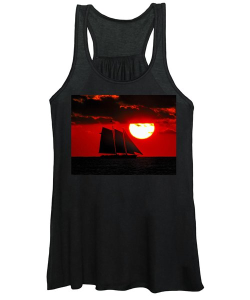 Key West Sunset Sail Silhouette Women's Tank Top