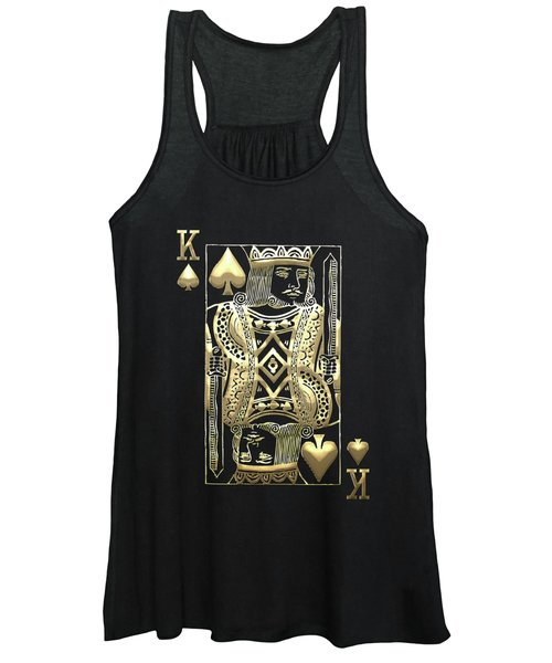 King Of Spades In Gold On Black   Women's Tank Top