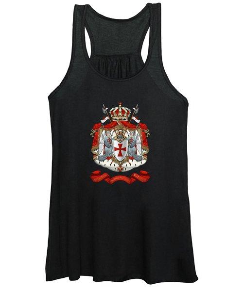 Knights Templar - Coat Of Arms Over Black Velvet Women's Tank Top
