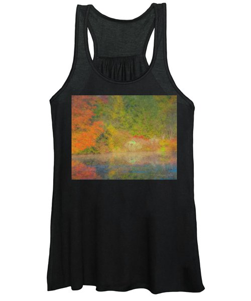 Langwater Pond Boathouse October 2015 Women's Tank Top