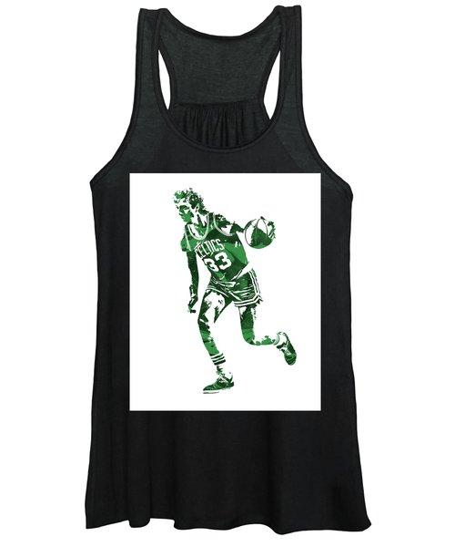 Larry Bird Boston Celtics Pixel Art 10 Women's Tank Top