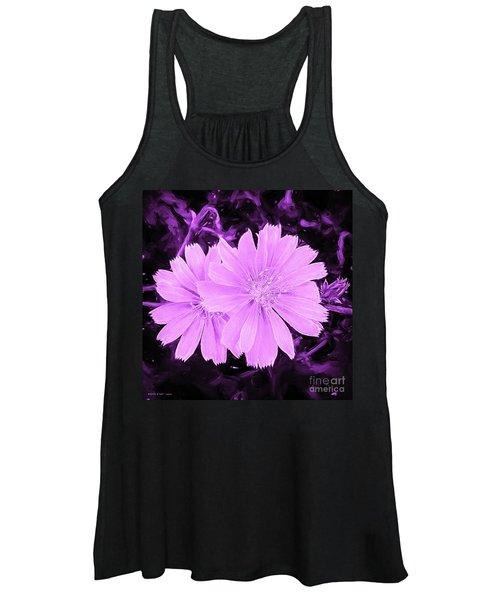 Blue Daisy Twins Lavender Women's Tank Top