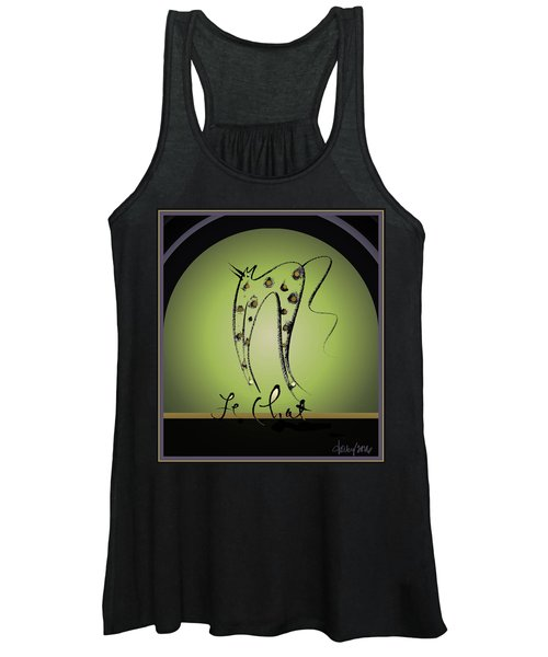 Le Chat - Green And Gold Women's Tank Top