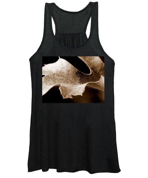 Leaf Study In Sepia Women's Tank Top
