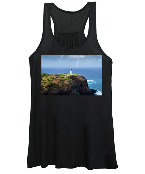 Lighthouse On A Cliff Women's Tank Top