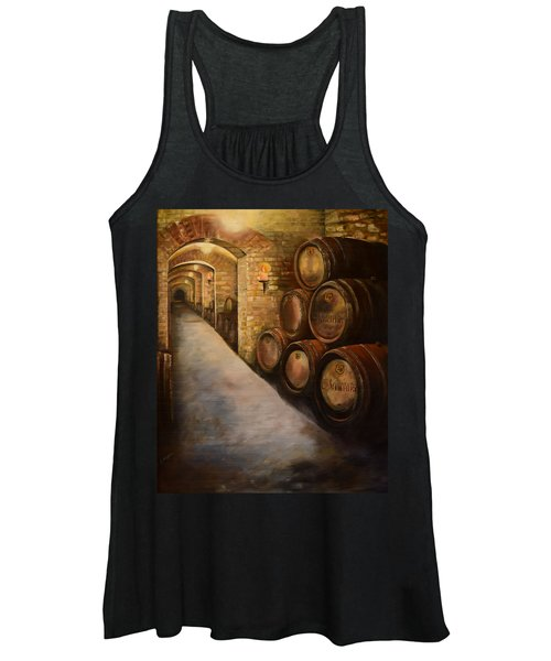 Lights In The Wine Cellar - Chateau Meichtry Vineyard Women's Tank Top