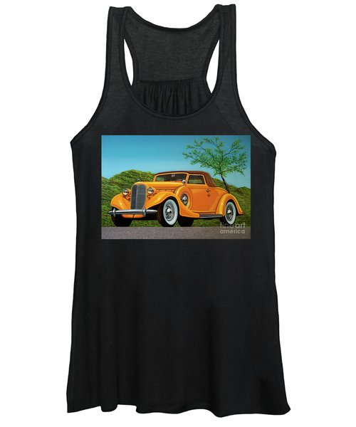 Lincoln K Convertible 1935 Painting Women's Tank Top