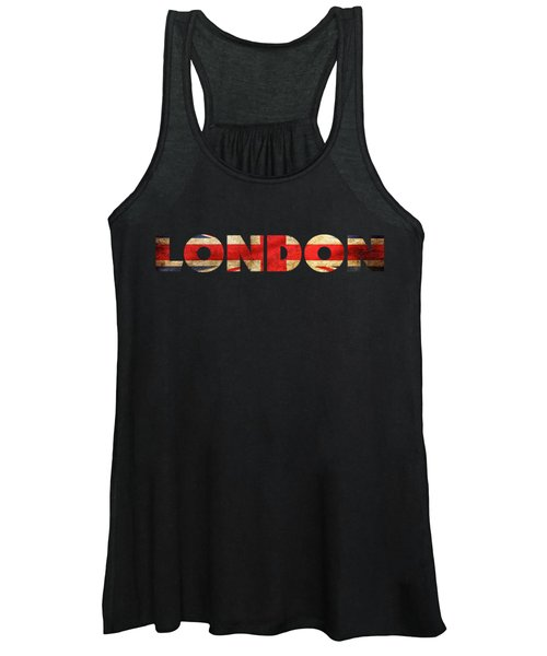 London Vintage British Flag Tee Women's Tank Top